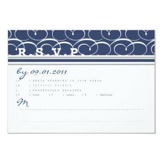 Cartão náutico da resposta dos redemoinhos convite 8.89 x 12.7cm