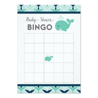 Cartão náutico do Bingo do chá de fraldas da Convite 12.7 X 17.78cm