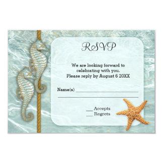 Cartão náutico do cerco RSVP do casamento do