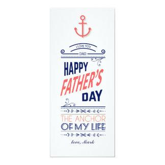 Cartão náutico do dia dos pais convite 10.16 x 23.49cm