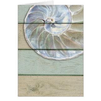 Cartão Nautilus Shell