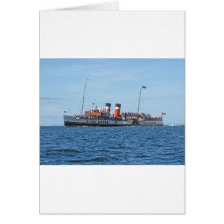 Cartão Navio a vapor de pá de Waverly