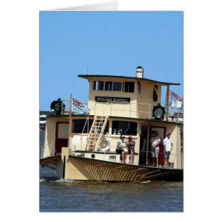 Cartão Navio a vapor de pá, Goolwa, Austrália