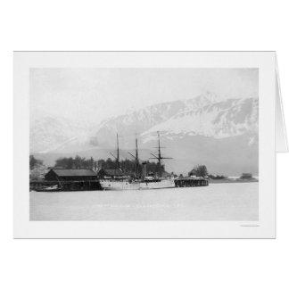 Cartão Navio a vapor entrado em Seward, Alaska 1916