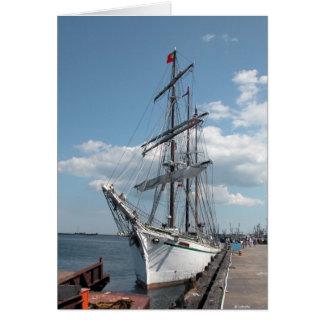 Cartão Navio de navigação--cartão vazio