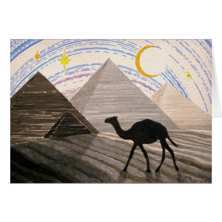 Cartão Navio do deserto