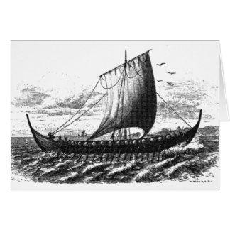 Cartão Navio dos noruegueses do século X