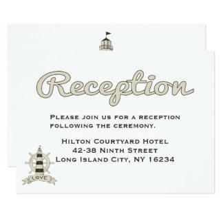 Cartão Navio náutico do farol da recepção de casamento de