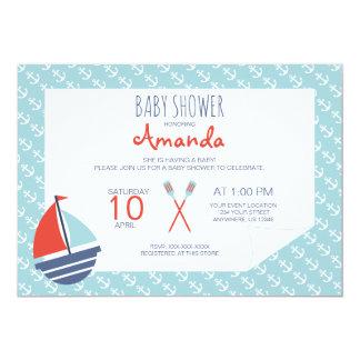 Cartão Navy baby shower invitation