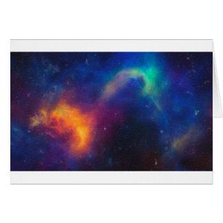 Cartão Nebulla abstrato com a nuvem cósmica galáctica 24