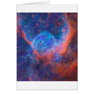 Cartão Nebulla abstrato com a nuvem cósmica galáctica 29