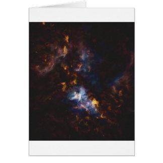 Cartão Nebulla abstrato com a nuvem cósmica galáctica 34