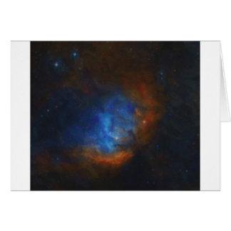 Cartão Nebulla abstrato com a nuvem cósmica galáctica 39