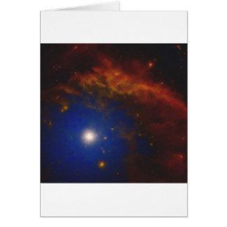 Cartão Nebulla abstrato com a nuvem cósmica galáctica 40