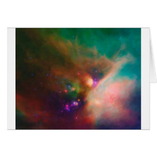 Cartão Nebulla abstrato com o MED cósmico galáctico da