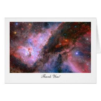 Cartão Nebulosa de Carina - dizendo o obrigado você