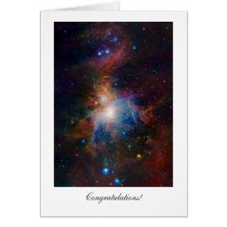 Cartão Nebulosa de Orion - parabéns gerais