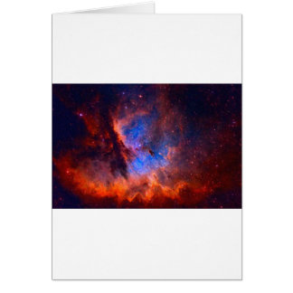 Cartão Nebulosa galáctica abstrata com nuvem cósmica -