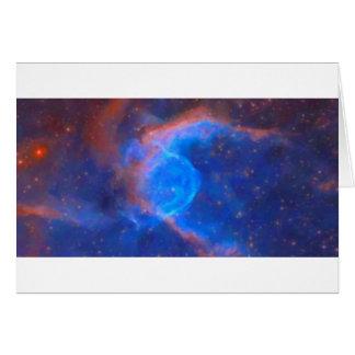 Cartão Nebulosa galáctica abstrata com nuvem cósmica 10