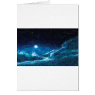 Cartão Nebulosa galáctica abstrata com nuvem cósmica 14