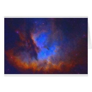 Cartão Nebulosa galáctica abstrata com nuvem cósmica 2