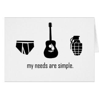 Cartão Necessidades simples