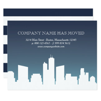 Cartão Negócio que da skyline | da cidade nós nos movemos