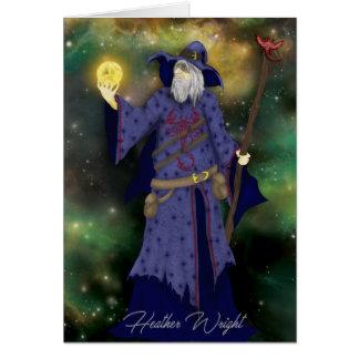Cartão Negócios loucos de Wiz, arte do feiticeiro do