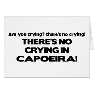 Cartão Nenhum grito - Capoeira