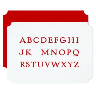 """Cartão Nenhum L alfabeto da """"piada"""""""