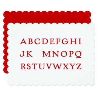 """Cartão Nenhum L alfabeto da """"piada"""" (Noel)"""