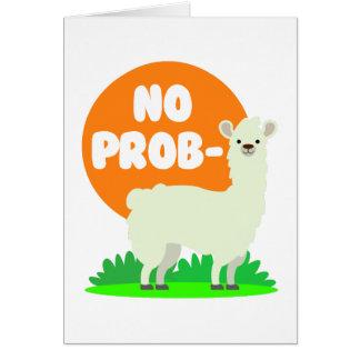 Cartão Nenhum Prob-Lama - nenhum lama do problema -