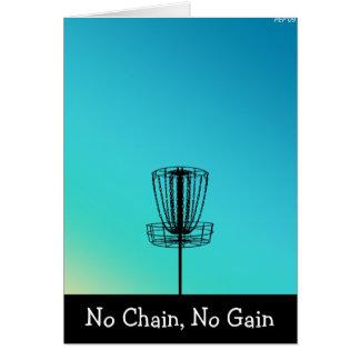 Cartão Nenhuma corrente, nenhum ganho
