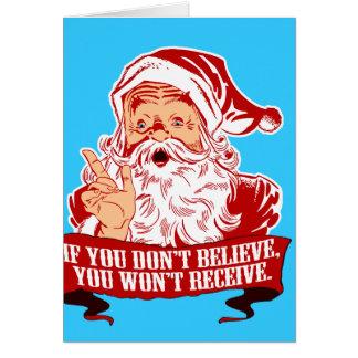 Cartão Nenhuma crença de nenhuma recepção