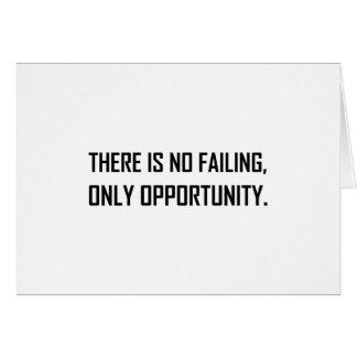 Cartão Nenhuma divisa da oportunidade do Failing somente
