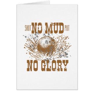 Cartão nenhuma lama nenhuma glória