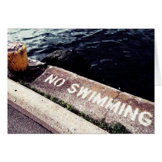 Cartão Nenhuma natação
