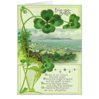 Cartão nenhuns do Dia de São Patrício do vintage