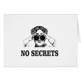 Cartão nenhuns segredos yeah