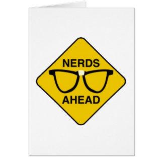 Cartão Nerd adiante
