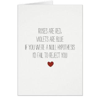 cartão nerdy dos namorados da piada da matemática