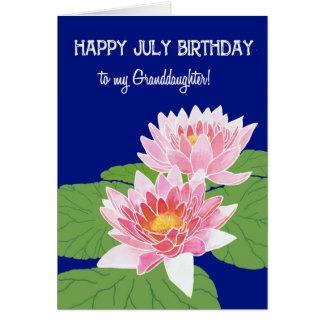 Cartão Neta cor-de-rosa do aniversário de julho dos
