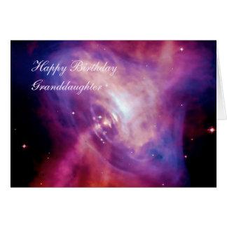 Cartão Neta do aniversário - lapso de tempo do pulsar do