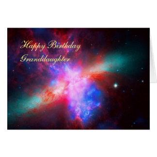 Cartão Neta do feliz aniversario - galáxia do charuto