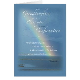Cartão Neta, felicitações do arco-íris da confirmação