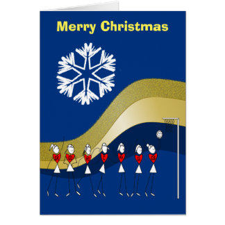 Cartão Netball temático do Natal