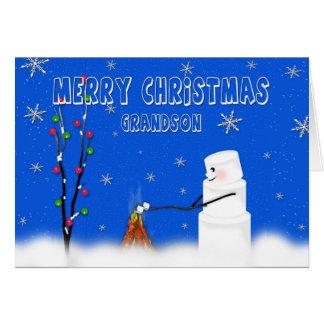 Cartão Neto-Natal-Humor do Marshmallow (boneco de neve)