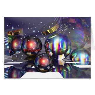 Cartão nevado da noite de Natal