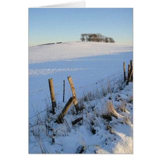 Cartão nevado da vista