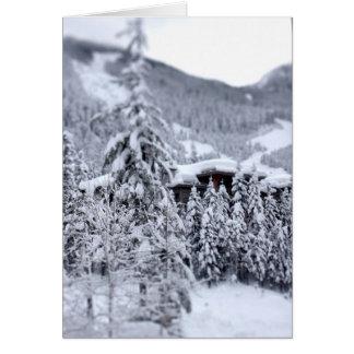 Cartão Nevado dentro
